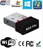 #6: Electomania Mini Wi-Fi Receiver 300Mbps, 2.4GHz, 802.11b/g/n USB 2.0 Wireless Wi-Fi Network Adapter