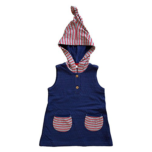 806d84473d38 Leela Cotton Baby Tunic with Pointed Hood Made From Pure Organic ...