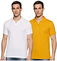 Amazon Brand - Symbol Men's Solid Regular fit Polo T Shirt (Pack o