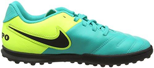 Nike Tiempox Rio Iii Tf, Scarpe da calcio Unisex Bambini Turchese (Clear Jade/Black/Volt)