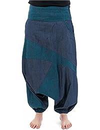 - Sarouel mixte jean denim soft imprime ethnic graphic original -