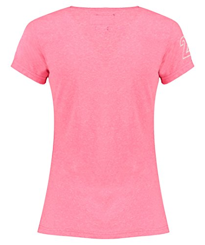 Superdry Damen Shirt Premium Goods Tri Entry Tee Kurzarm rosa (311)