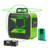 Huepar 2x360 Cross Line Laser - One 360° Horizontal and One 360° Vertical