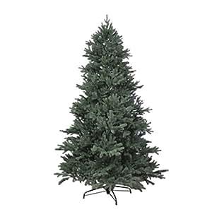 RS Trade® 180 cm exklusiver, hochwertiger künstlicher Spritzguss PE Premium Weihnachtsbaum, 100% Spritzgussnadeln ca. 3245 Spitzen, mit Metallständer, Minutenschneller Aufbau mit Klappsystem, schwer entflammbar, HXT 1418