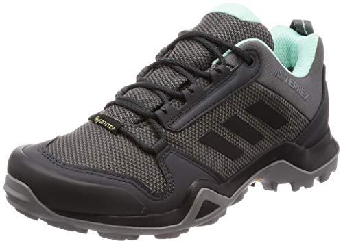 adidas Damen Terrex AX3 GTX W Trekking- & Wanderhalbschuhe, Grau (Grey/Core Black/Clear Mint 0), 39 1/3 EU (Damen Adidas Outdoor-schuhe)