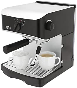 Stellar Authentic Espresso and Cappuccino 800W Electric Coffee Maker with Built In Milk Frother