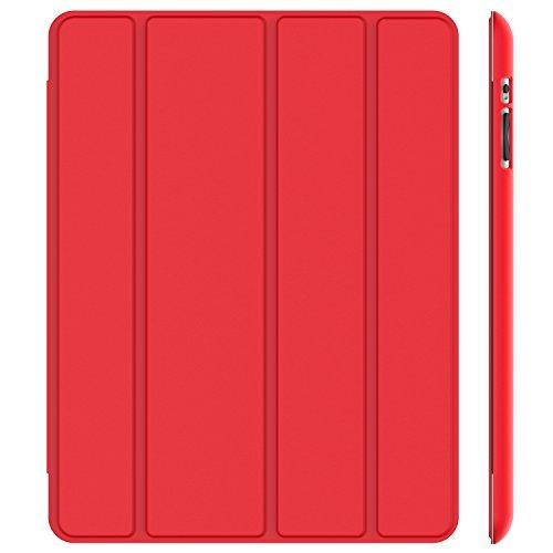 JETech J0216 Hülle für Apple iPad 4 iPad 3 iPad 2, Schutzhülle mit Ständer Funktion und Auto Einschlafen/Aufwachen, Rot