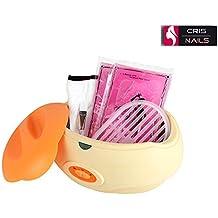 Crisnails ® Calentador de parafina Profesional fundidor de cera Calentamiento Rápido 3Lkit Guantes Pie Manos Naranja (Naranja)