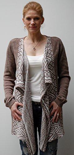Key Largo, Fairy, Veste en tricot en 2couleurs Marron - Taupe