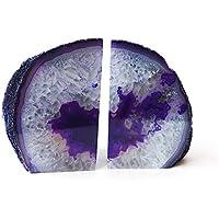 Reiki Buchstützen mit heilender Energie geladen, violetter Achat, 1081 g, in wunderschöner Geschenkverpackung preisvergleich bei billige-tabletten.eu