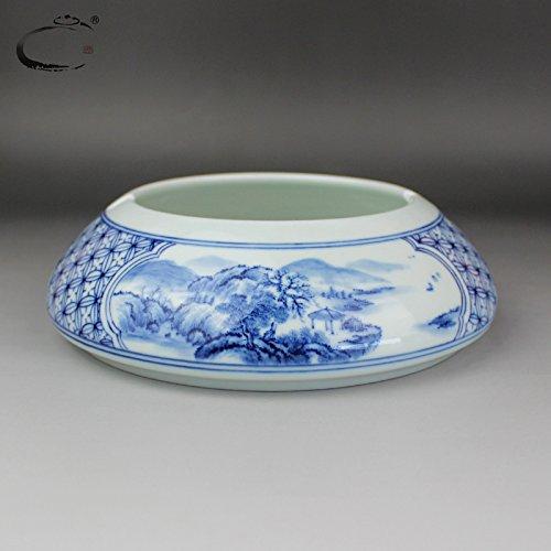 XOYOYO Hand-Painted Blau und Weiß Aschenbecher Jingdezhen Ceramic Persönlichkeit Retro...