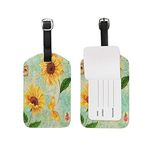 Watrcolor 89tAGS4271 Gepäckanhänger, Schmetterlingsform, 1 Stück