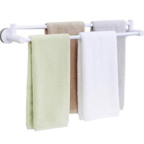 M-YN Handtuchhalter Wand Bad, Kein Bohren Doppel Badezimmer Handtuchhalter Schiene, Aluminium Adhesive Handtuchhalter-Speicher-Organisator-Halter 25.6in