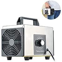 Lychee Generador de ozono Comercial Profesional,10,000mg/h 220V Purificador de Aire de ozono móvil Ozone Machine O3 con Temporizador para Hogar, Oficina, Humo,Automóviles y Mascotas