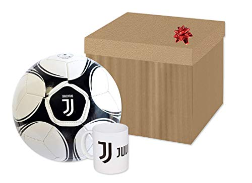 mo ndo Box Regalo Pallone da Calcio F.C. Juventus 13720 + Tazza JU1342 + Coccarda