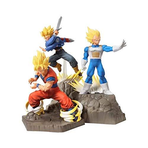 PLP 3 STÜCKE Action Figure Dragon Ball APF Serie Sun Wukong Vegeta Badehose, Spielzeug Modell Anime Modell Modellierung Szene Ornamente Souvenirs/Sammlerstücke/Handwerk 31 cm Spielzeug Statue - Plp-serie