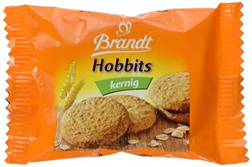 Brandt Hobbits 2er, 60 x 22,8g Pack (1.368 kg) - knackiger Vollkornkeks mit Haferflocken, ballaststoffreiches Gebäck für die ganze Familie, praktisch portioniert