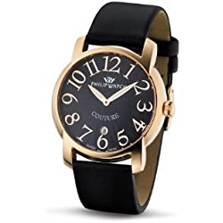 Philip Ladies Couture Analogue Watch R8251198525 with Quartz Movement, Black Dial and Stainless Steel Case