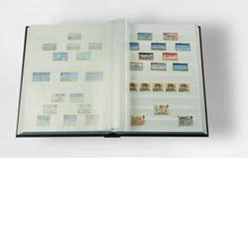 Preisvergleich Produktbild Briefmarken Einsteckbuch BASIC, Einband unwattiert in Blau, DIN A4