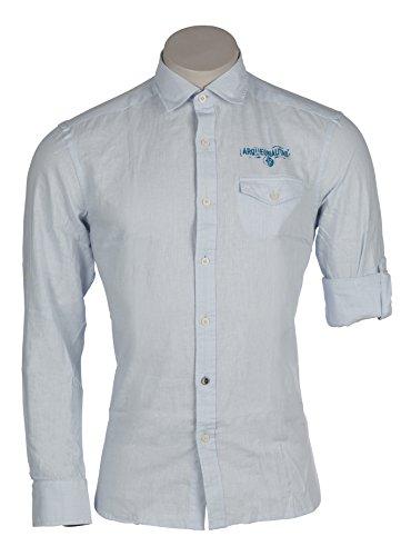 ARQUEONAUTAS Herren Hemd Freizeit Leinenhemd Leinen Baumwolle Business Farbe Shirt Blue 201244-4100 S M L XL XXL 2XL XXXL 3XL Shirt Blue