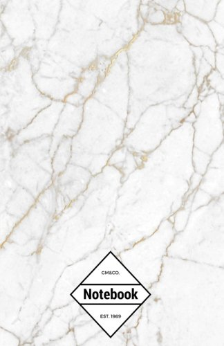 gmco-notebook-journal-dot-grid-lined-graph-120-pages-55x85-white-marble-minimal-soft-golden-line