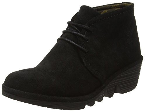 Fly London Pert Stivaletti Desert Boots Donna Nero (Black 046)