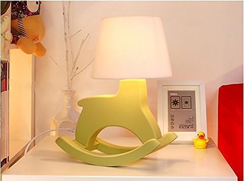 Schaukelpferd Lampe 3D Lampe Lampe Dekoration Mode Schlafzimmer Nachttisch Nachtlicht , green