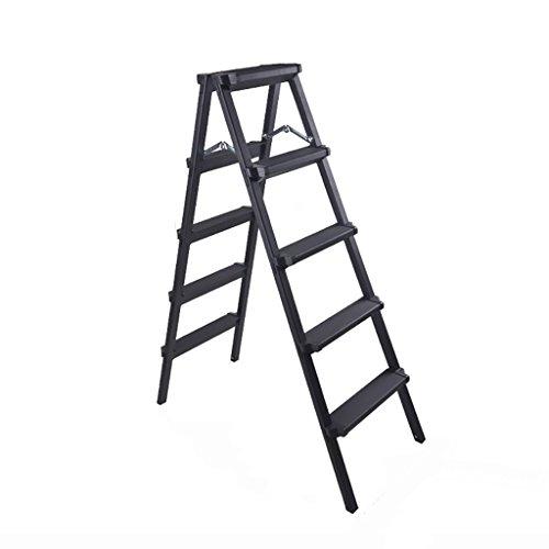 Tritthocker, europäische minimalistische schwarz, Leiter 2, 3, 4, 5 Stufen Haushalt Klappleiter...
