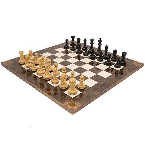 The Regency Chess Company Ltd The Monarch Ebenholz und Nussbaum Grand Luxus Schachspiel