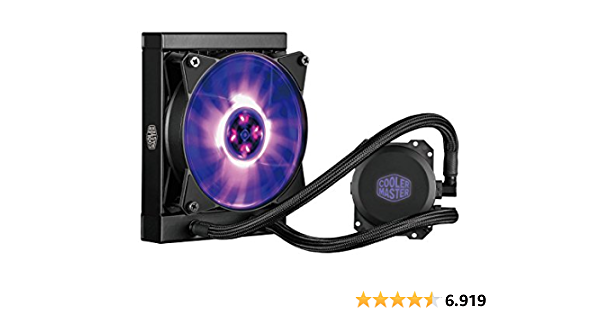 Cooler Master MasterLiquid ML120L RGB, CPU-Wasserkühler, Individuelle Lichteffekte, Duale Wärmeableitpumpe und 120-mm-Lüfter