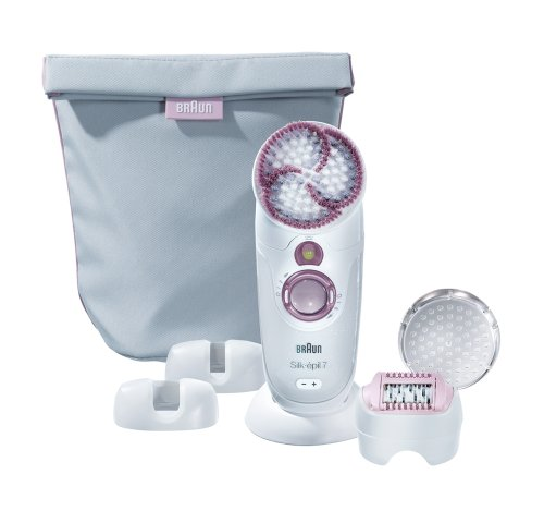Braun Silk-épil 7 SkinSpa 7961  kabelloser Wet & Dry Epilierer (mit Aufbewahrungstasche) - Alba-peeling