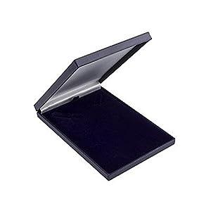 Astuccio in similpelle per gioielli, formato slim, rivestito di raso, per collane e ciondoli (spedizione economica) Blue