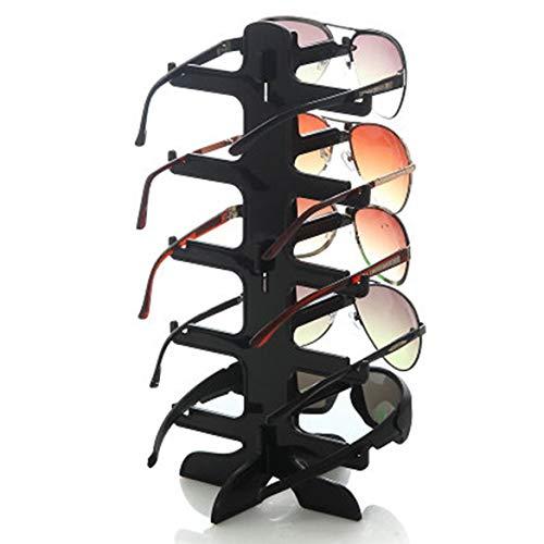 JohnJohnsen Mode 5 Layerss Glas-Brillen Sonnenbrillen Zeigen Stand-Halter-Rahmen-Anzeige angezeigt Gestell anzeigen Stent (Schwarz)
