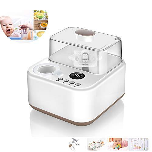 LYXCM Baby-Flaschenwärmer, Flasche Dampfsterilisator LED-Anzeige Schneller Flaschenwärmer Speisewärmer Warme Muttermilch Formel Hitze Essen Auftauen viel Funktion