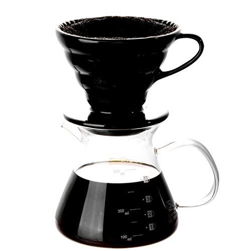 YQQ-Cafetière Tasse de café de Tasse de café d'égouttement de poinçon de Main Petite Tasse en céramique de Filtre Filtre en céramique pour Le ménage