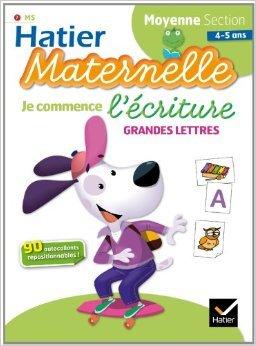 Je commence l'écriture (grandes lettres) - Moyenne section (4/5 ans) de Florence Doutremepuich ,Françoise Perraud ( 15 janvier 2014 )
