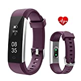 TOOBUR Fitness Armbanduhr, Schmal Wasserdicht Fitness Tracker mit Herzfrequenz Schrittzähler Schlafmonitor und Kalorienzähler, Aktivitätstracker Armband Uhr für Damen Frauen und Kinder-Violett