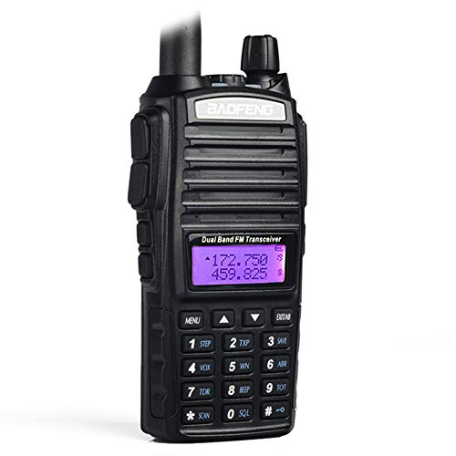 DZSF Walkie Talkie UV-82 Dual-Band 136-174/400-520 MHz UKW-Amateurfunkgerät, Transceiver, Li-Ionen-Akku und Ladegerät im Lieferumfang enthalten (Walkie Talkies 50-kanal)