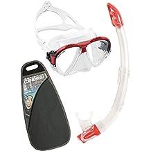 Cressi Matrix & Gamma VIP - Juego de accesorios de buceo (gafas y tubo) rojo rojo Talla:talla única