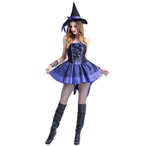 ligen Halloween Kleidung Teufel Pirat Hexe Spiel Versuchung Uniform ()