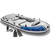 Sarahjers-Sport Schlauchboot Lifeboat Fischerboot Drifter Serie Boots Gruppe 5 Personen Schlauchboot Schlauchboot Angeln Kajaks Angeln Schlauchboot (Color : Blue, Size : 366x168x43cm)