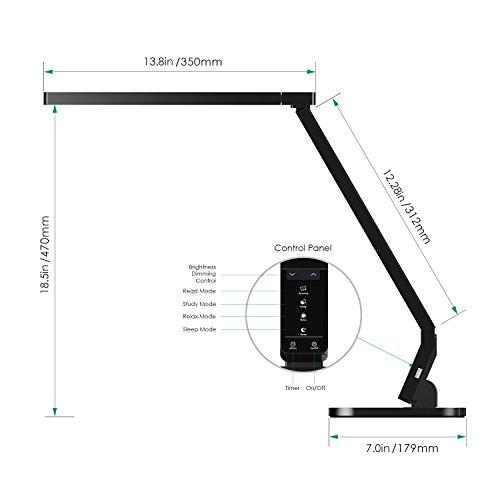 Aukey lampada led da tavolo con porta usb 15w lampada da for Lampada led da scrivania