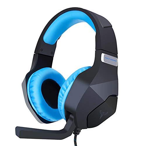 Jinclonder G600 Stereo-Kopfhörer für PS4, PC, Xbox One, Geräuschunterdrückung, mit Mikrofon, weiche Ohrenschützer, für Laptop, Mac, Spiele Nintendo Switch