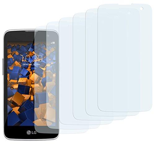 mumbi Schutzfolie kompatibel mit LG K4 Folie klar, Bildschirmschutzfolie (6x)