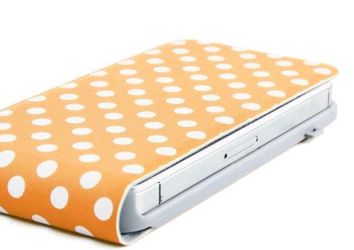 JAMMYLIZARD   Etui à rabat Flip Case pour iPhone 4 4s, Orange