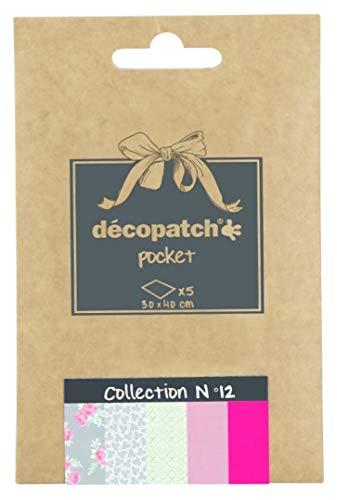 ckung Décopocket mit 5 Papierbogen (30 x 40 cm) (gefaltet, 13 x 9,5 cm, praktisch zum Transportieren und einfach zum Verwenden) 1 Pack farbig sortiert ()