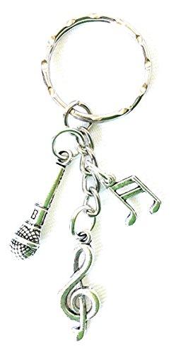 Musik Schlüsselanhänger/Tasche Charm tibetisches Silber Charms Musiker Musik Student Gifts AT DAWN