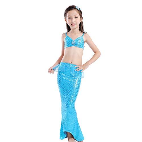 Fett Beleuchtung Kostüm - Cool&D Mädchen Meerjungfrauen Badeanzug Meerjungfrauenschwanz Bikini