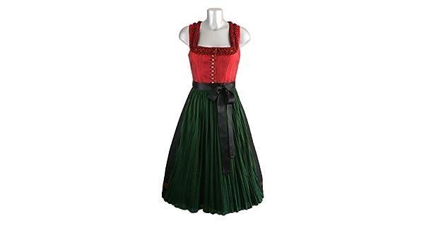 f7b3e44e1b110 Dirndl Anno Domini rot grün 70cm Rocklänge Gr. 42: Amazon.de: Bekleidung