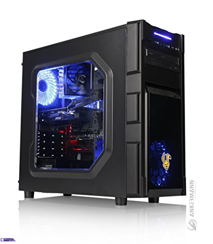 PC, 24 Monate Garantie, Intel i7 7700 4x3.6Ghz, GeForce GTX 1050 Ti 4GB 4K, 8GB DDR4 2400, 240GB SSD, 1TB HDD, Windows 10 Pro, Leise, Cardreader (Pc Für Gaming)